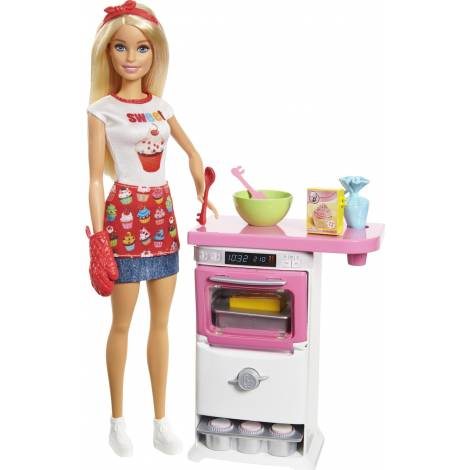 Mattel Barbie Doll - Baker Playset (FHP57)