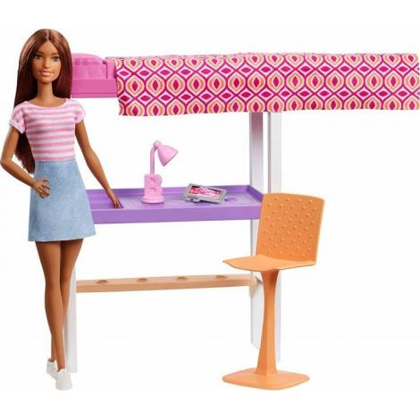Mattel Barbie Doll Careers - Dark Skin Doll with Office Playset (FXG52)