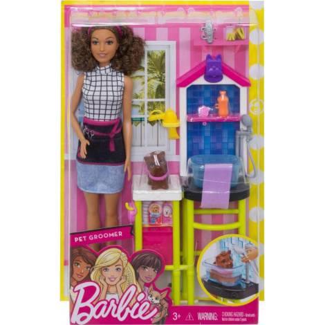 Mattel Barbie Doll Careers - Pet Groomer Playset (FJB31)