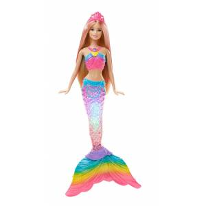 MATTEL BARBIE DOLL MERMAID - RAINBOW LIGHTS MERMAID (DHC40)