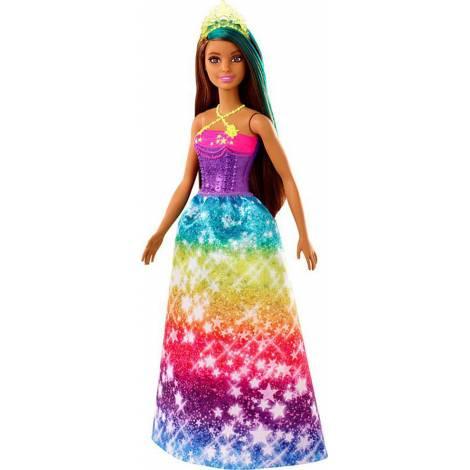 Mattel Barbie Dreamtopia - Princess Brunette With Green Hairstreak (GJK14)