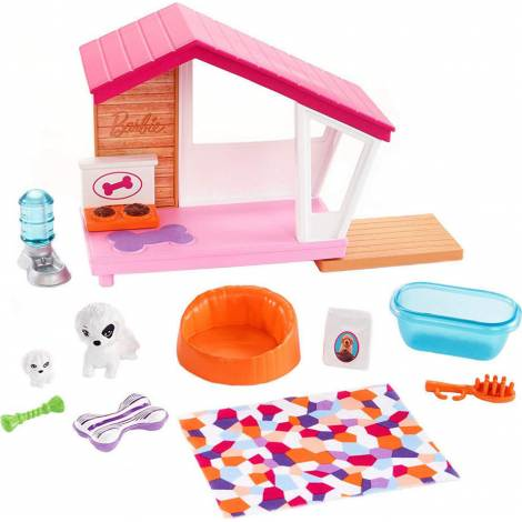 Mattel Barbie Furniture and Accessories - Puppies & Dog House Unicorn Playset (FXG34)