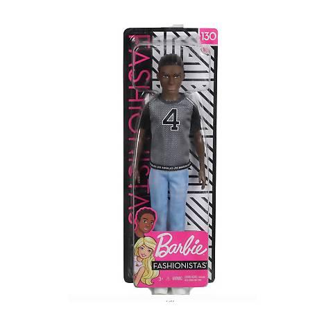 Mattel Barbie Ken Doll - Fashionistas #130 - Net Jersey African American Doll (GDV13)