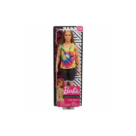 Mattel Barbie Ken Doll - Fashionistas #138 - Doll With Long Blonde Hair (GHW66)