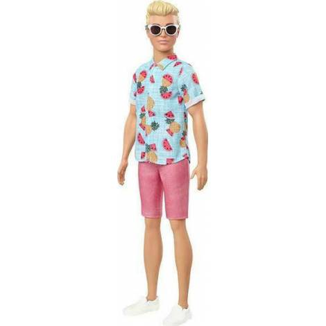 Mattel Barbie Ken Doll - Fashionistas #152 - Blouse Tropical Print Doll (GYB04)