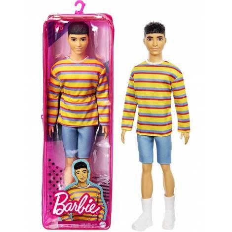 Mattel Barbie Ken Doll - Fashionistas # 175 - Ken Black Hair Doll (GRB91)
