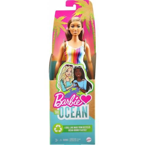 Mattel Barbie Loves The Planet: Barbie Loves The Ocean Καστανά Ανοιχτά Μαλλιά (GRB38)