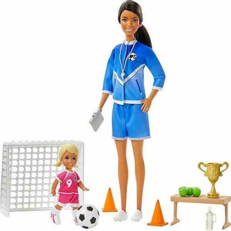 Mattel Barbie: Soccer Coach - Blonde (GJM71)