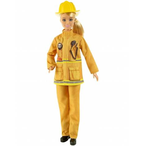 Mattel Barbie You Can be Anything: Blonde Doll Firefighter with Puppy (GTN83)