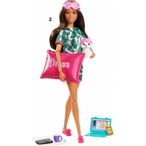 Mattel Barbie - You Can Be Anything - Dark Skin Doll with Puppy in a Backpack & Accessories (GRN66)