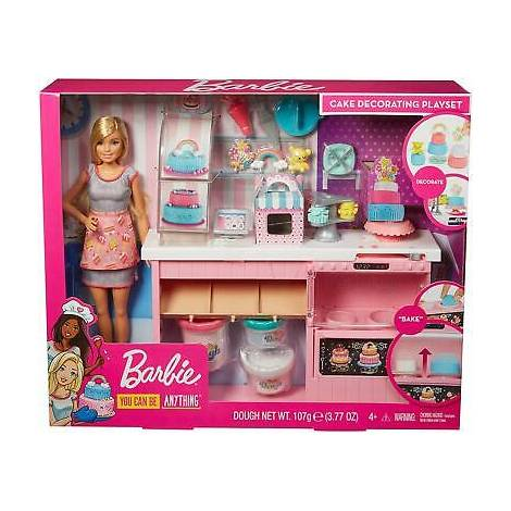 Mattel Barbie You Can Be Anything - Doll And Cake Decorating Playset (GFP59)