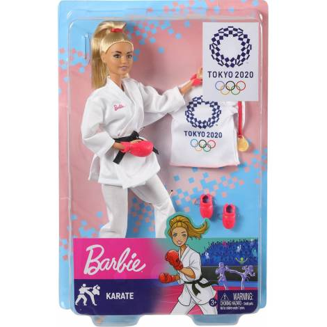 Mattel Barbie You Can be Anything: Tokyo 2020 - Olympics Karate Doll (GJL74)