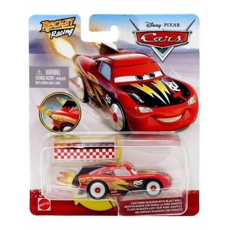Mattel Disney Cars: XRS Rocket Racing - Lightning Mcqueen With Blast Wall (GKB88)
