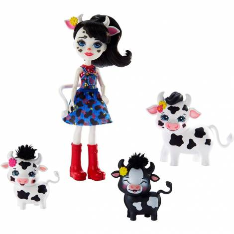 Mattel Enchantimals - Cambrie Cow, Ricotta, Mac & Cheese (GJX44)