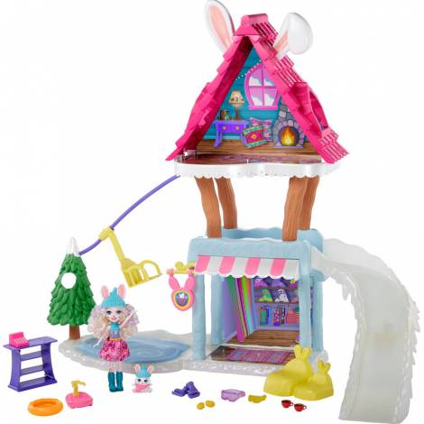 Mattel Enchantimals - Hoppin' Ski Chalet Playset (GJX50)