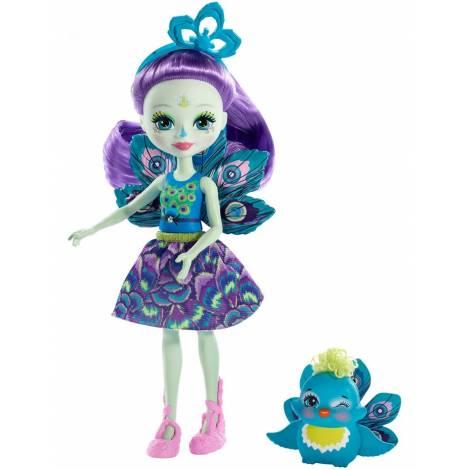 Mattel Enchantimals Mini Doll - Patter Peacock Flap (FXM74)