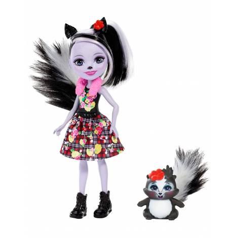 Mattel Enchantimals Mini Doll - Sage Skunk Caper (FXM72)