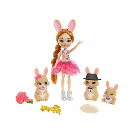 Mattel Enchantimals Royals: Brystal Bunny Family Doll Purple (GYJ08)