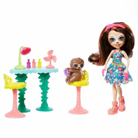 Mattel Enchantimals - Slow Down Salon And Animal Friend Sela Sloth Playset (GFN54)