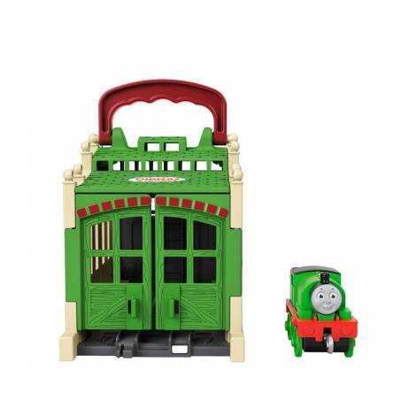 Mattel Fisher-Price Thomas and Friends: Tidmouth Shed - Connect And Go Percy (GWX65)