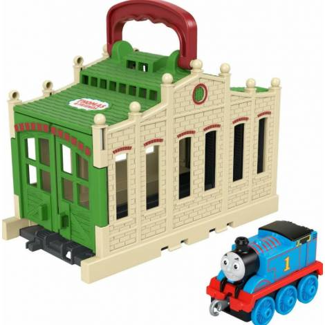 Mattel Fisher-Price Thomas and Friends: Tidmouth Shed - Connect And Go Thomas (GWX63)