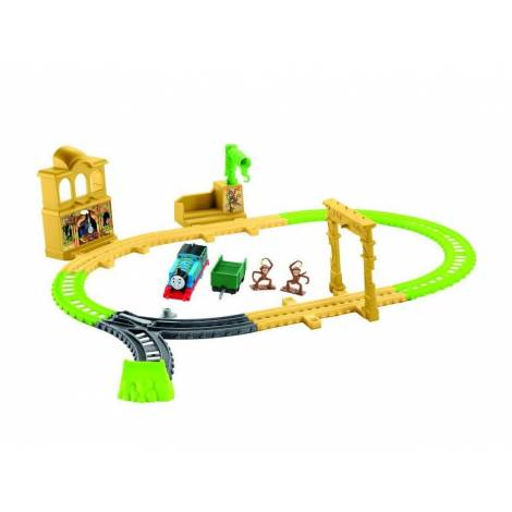 Mattel Fisher Price Thomas & Friends Trackmaster: Trains With 2 Wagons - Monkey Palace Set (FXX65)