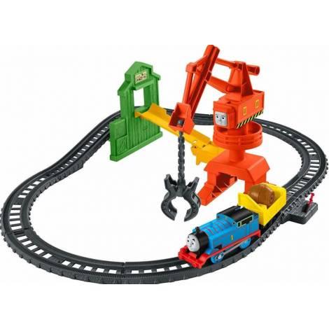 Mattel Fisher Price Thomas & Friends: Track Master Motorized Engine - Cassia Crane & Cargo Set (GHK83)