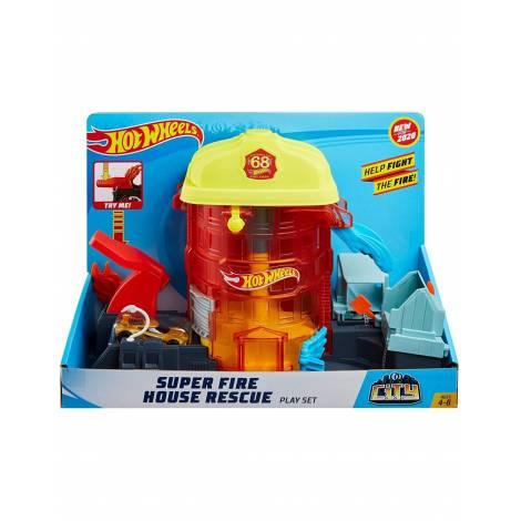 Mattel Hot Wheels City - Super Fire House Rescue Play Set (GJL06)