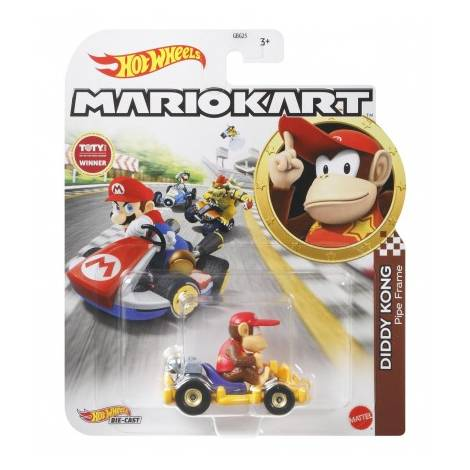 Mattel Hot Wheels: Mario Kart - Diddy Kong Pipe Frame Die-Cast (GRN15)