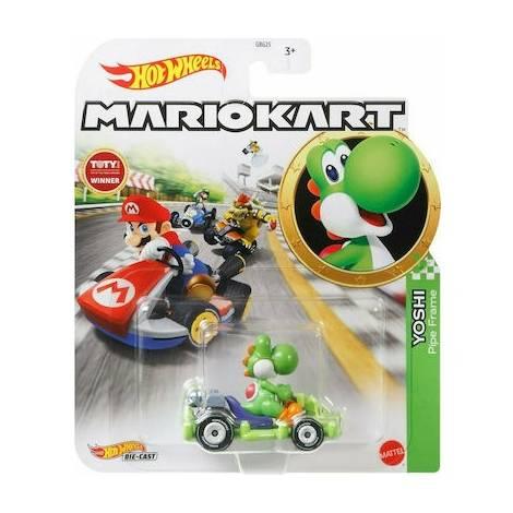 Mattel Hot Wheels: Mario Kart - Yoshi Pipe Frame Die-Cast (GRN19)