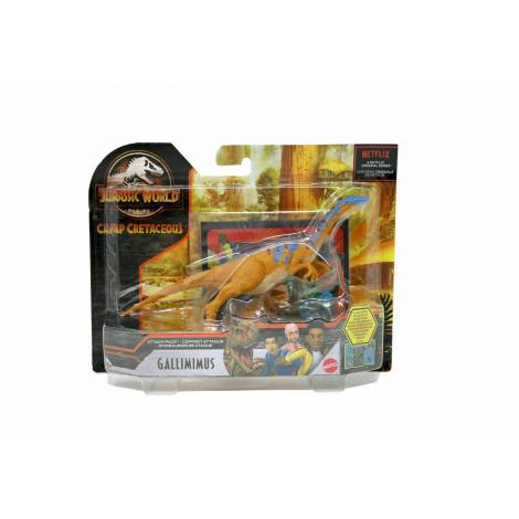 Mattel Jurassic World Camp Cretaceous: Attack Pack - Gallimimus Figure (GVF34)