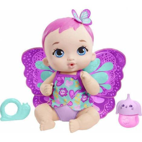Mattel - My Garden Baby : Feed Change Baby Butterfly Pink Hair (GYP10)