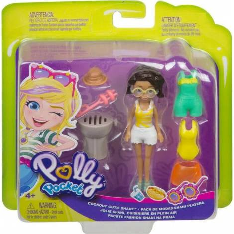 Mattel Polly Pocket - Cookout Cutie Shani Fashion Pack (GMF77)