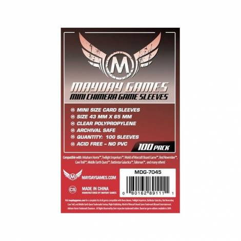 Mayday Sleeves 43x65mm 50 pack 125% thicker