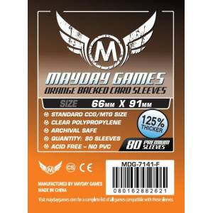 Mayday Sleeves 66x91 80 Pack - Orange