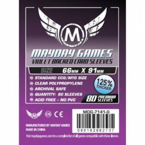 Mayday Sleeves 66x91 80 Pack - Purple
