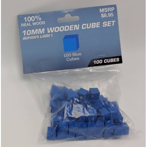 Mayday Wooden Blue Cubes 8MM 100 piecies