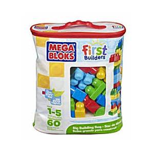MEGA BLOKS FIRST BUILDERS BIG BUILDING BAG 60pcs BLUE (DCH55)