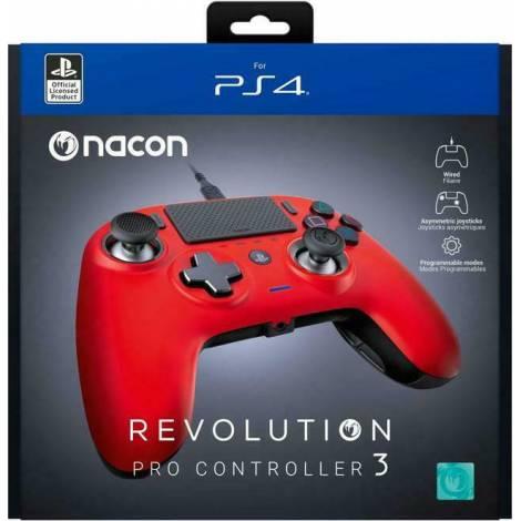Nacon Revolution Pro Controller V3 Red (PS4)