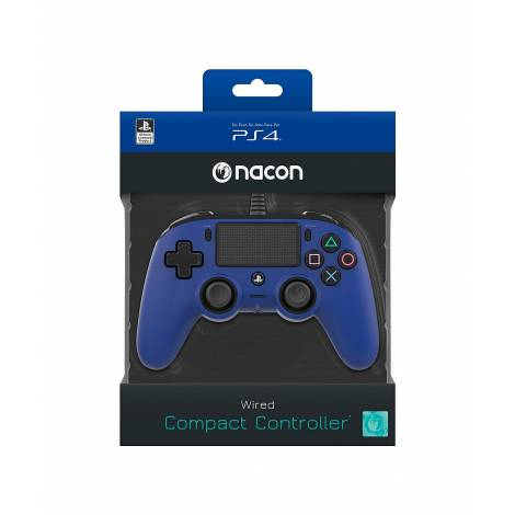 Nacon Wired Compact Controller, Blue (PS4)