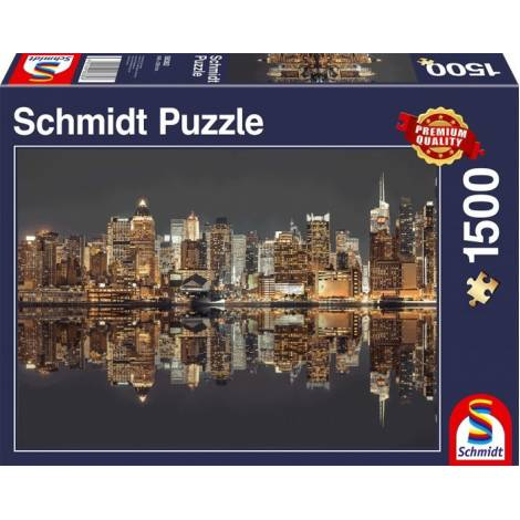 New York Skyline at Night 1500pcs (58382) Schmidt Spiele