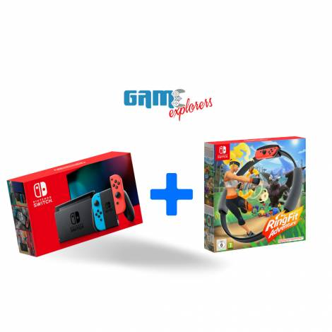 Nintendo Switch Console 32GB Red Blue Joy-Con Ring Fit Edition