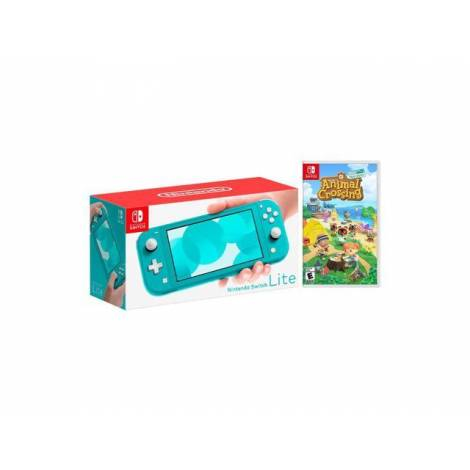 Nintendo Switch Lite Console Turquoise & Animal Crossing & 3M NSo (NINTENDO SWITCH)