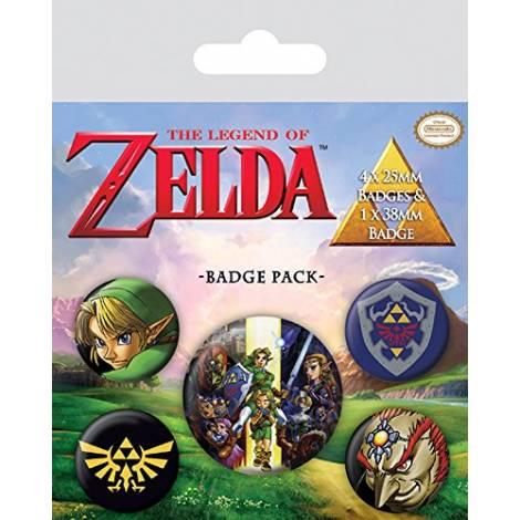 Pyramid Nintendo - The Legend Of Zelda Badge Pack (BP80530)