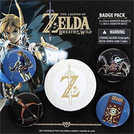 Pyramid Nintendo - The Legend of Zelda: Breath Of The Wild (Z Emblem) Badge Pack (BP80598)
