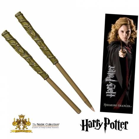 Noble Collection - Harry Potter : Στυλό-ραβδί της Ερμιόνης και σελιδοδείκτης (NN8634)