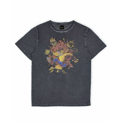 Numskull Crash Bandicoot - Oil Wash T-Shirt L