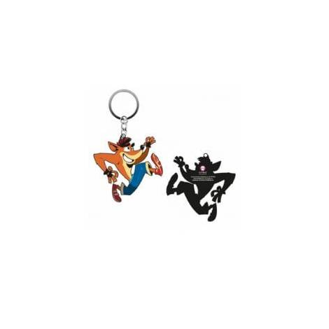 Numskull Official Crash Rubber Keychain