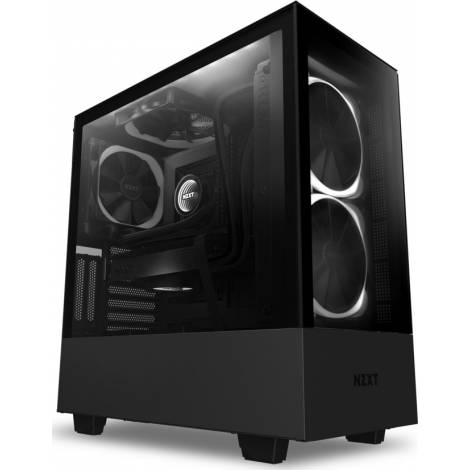 NZXT H510 ELITE BLACK- Tempered Glass -Smart 2nd Gen - RGB Fan/Led - Vertical GPU Mount - ATX Case