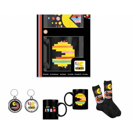 Official Pac-Man Companion Set - Standard (MUG, SOCKS, KEYCHAIN)